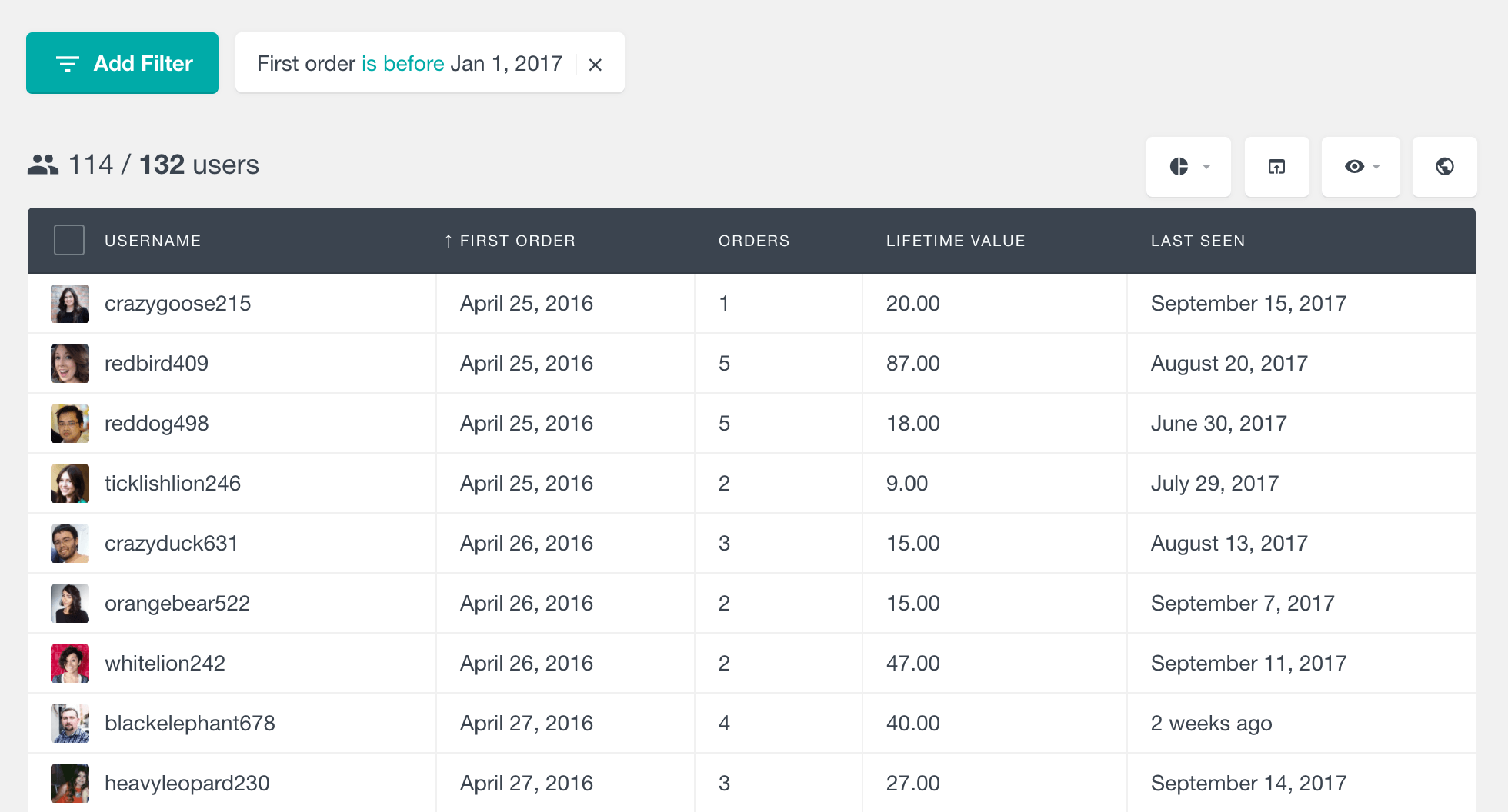 WooCommerce first order date by customer