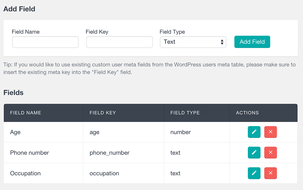 users insights create custom user meta fields