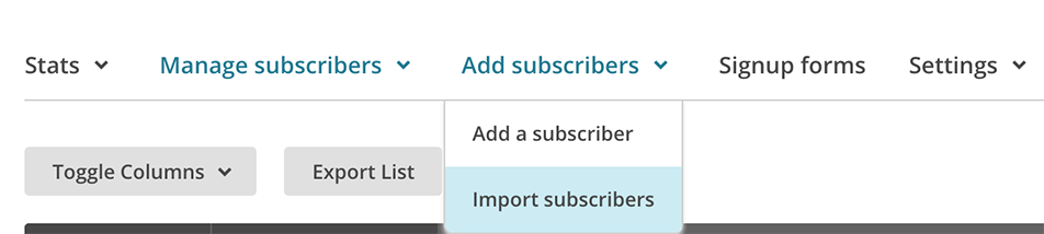 Importing users to be surveyed into Mailchimp