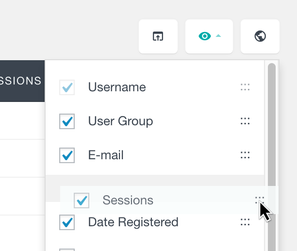 users insights order table fields