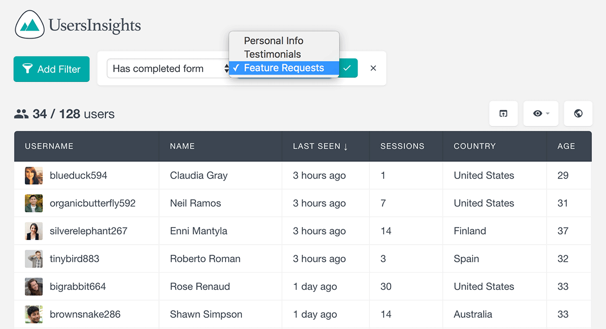 gravity forms find users that have submitted form