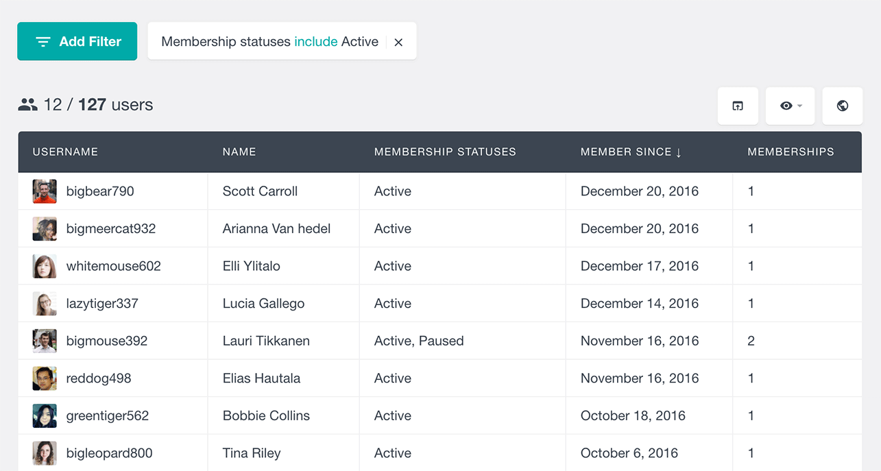 find users with active WooCommerce membership