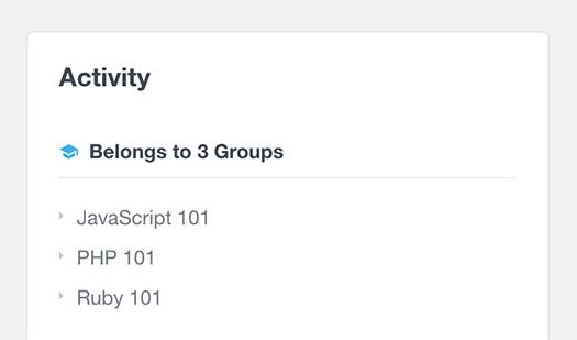 list group details of LearnDash user