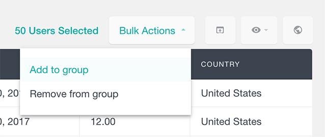 Select a bulk action