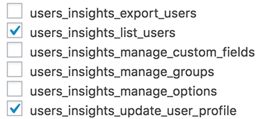 Using Role Editor to apply custom Users Insights capabilities