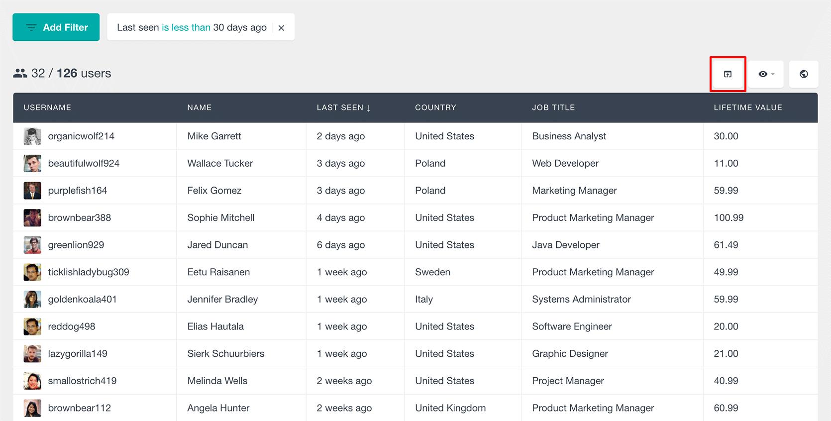WordPress Export Users