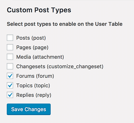 Register user custom post type