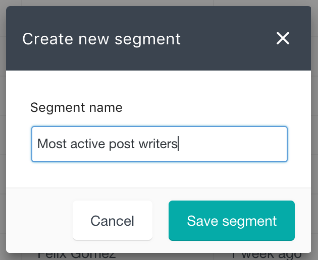 Set segment name