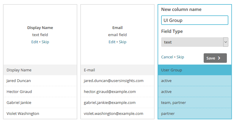 Importing user groups into MailChimp