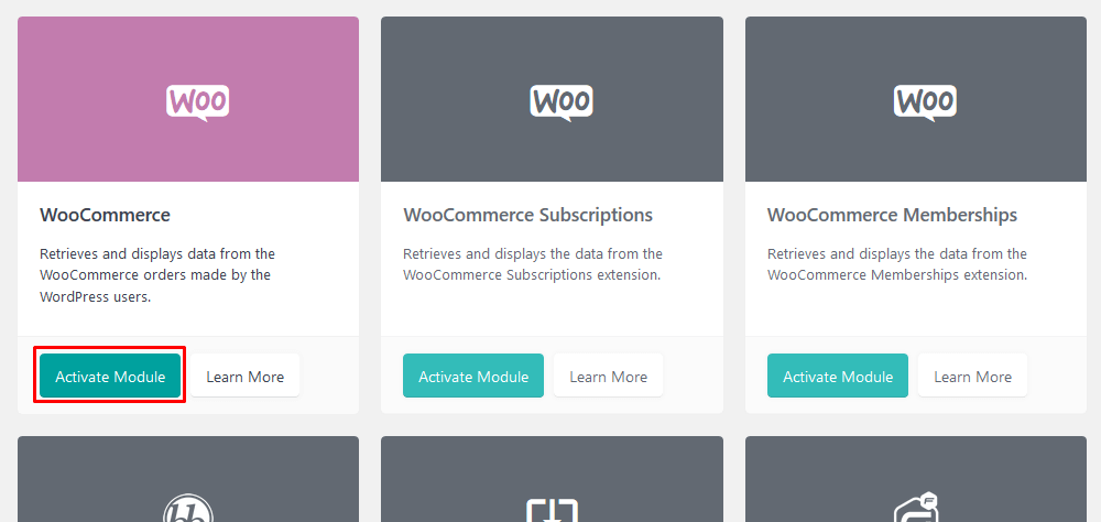 WooCommerce module from Users Insights