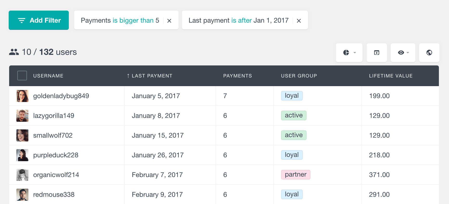 Paid Memberships Pro search members by last payment date