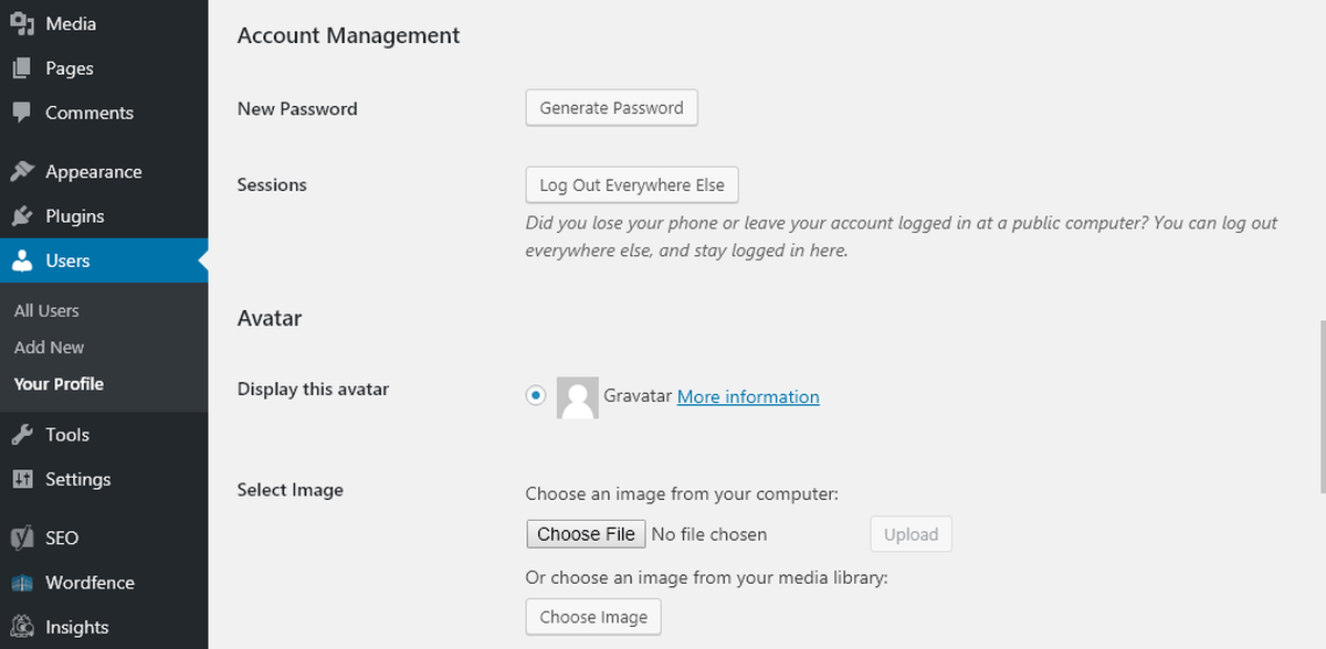 Avatar Manager account