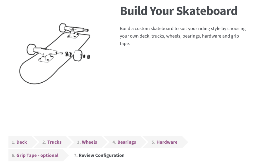 Build your skateboard product bundle