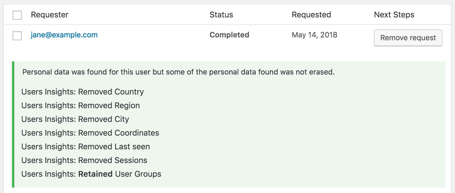 GDPR - erase personal data