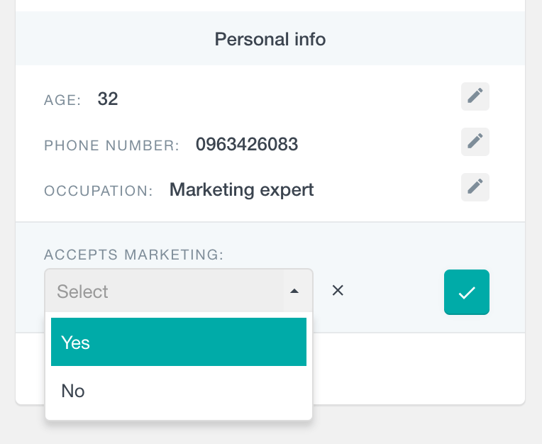 Edit a dropdown field in WooCommerce customer profile