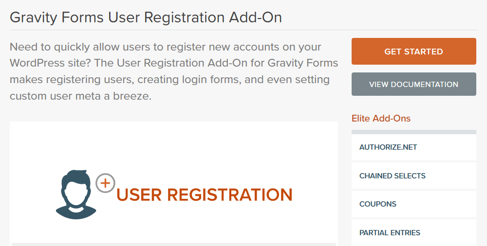 Gravity Forms User Registration Add-On