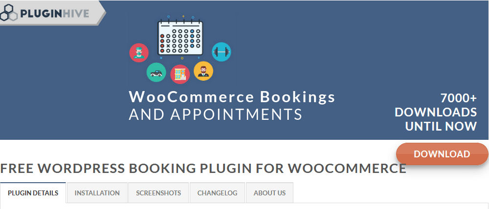 Free plugin for WooCommerce Bookings and Appointments