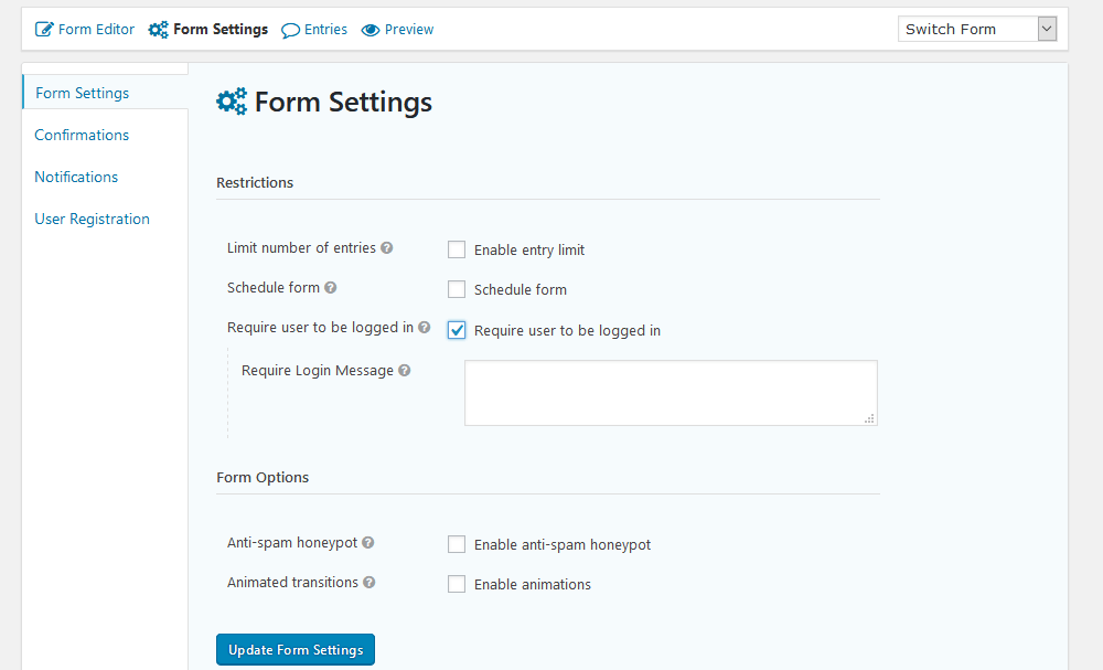 Require user registration in your WordPress survey