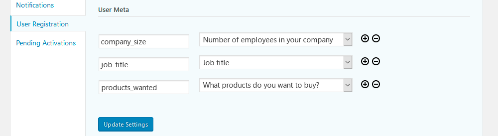 Assign answers of your WordPress survey plugin to custom user fields