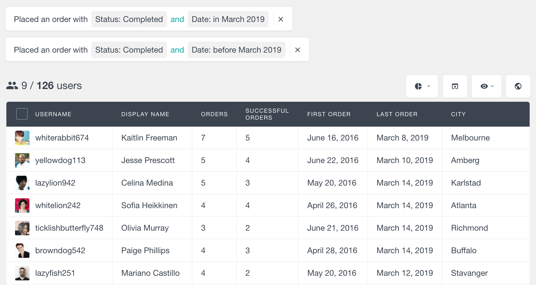 WooCommerce returning customers by date