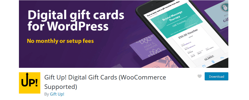 GiftUp Digital Gift cards for WooCommerce