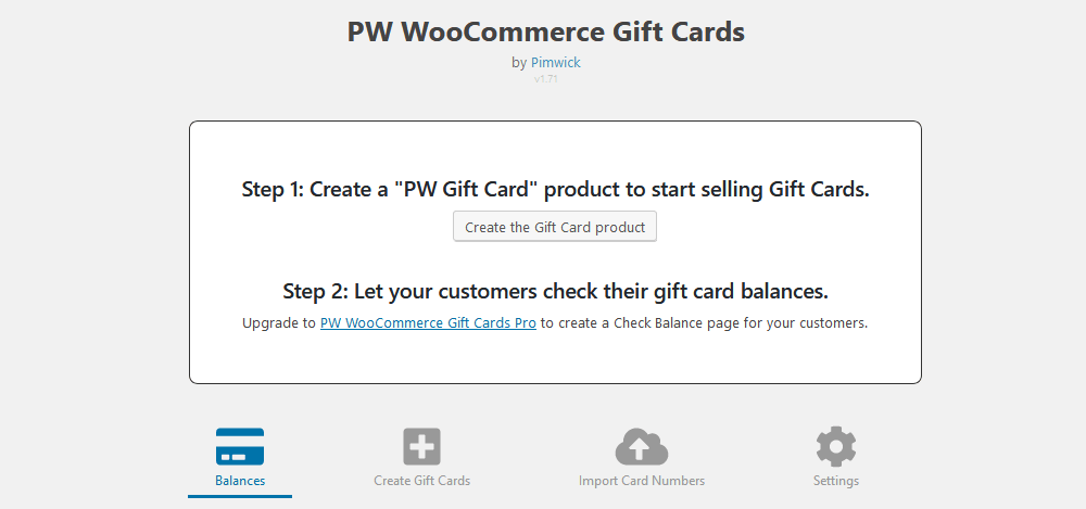 PW WooCommerce Gift Cards setup