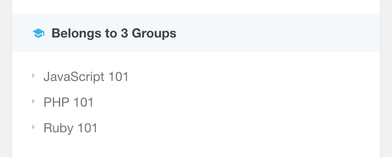 LearnDash list groups in user profile