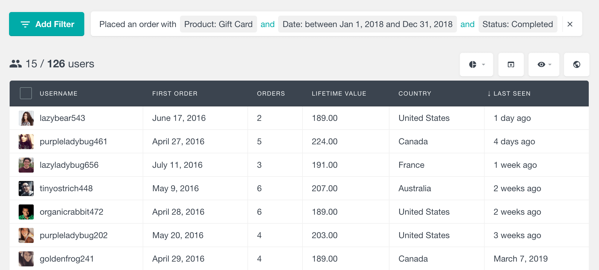 WooCommerce find customers who have purchased a product by period