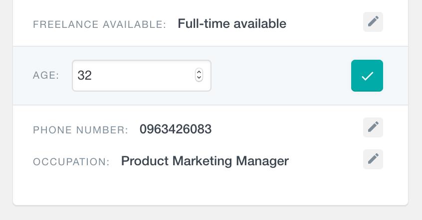 WordPress edit a number custom user field