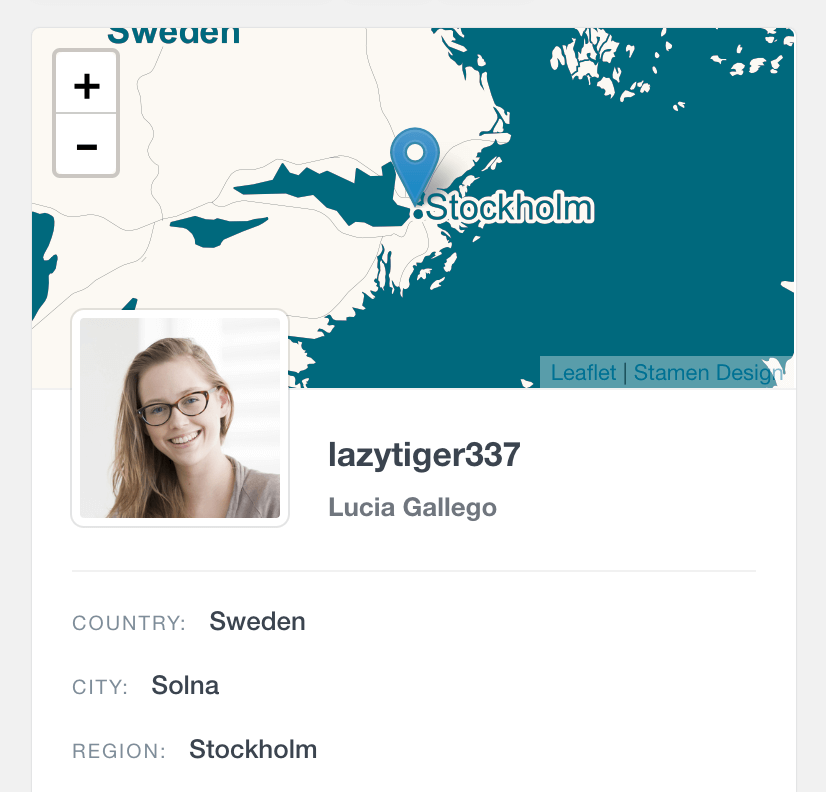 WordPress user location