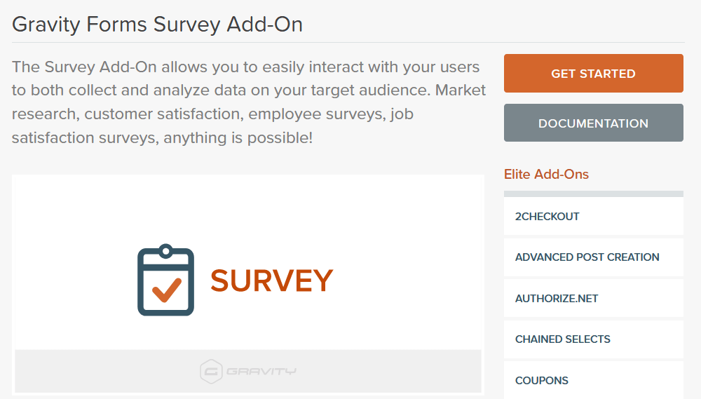 Create surveys with Gravity Forms and the Survey Add-On