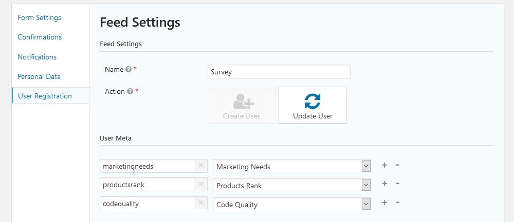 Map custom user fields for surveys