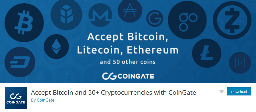 CoinGate WooCommerce crytocurrency paymente gateway