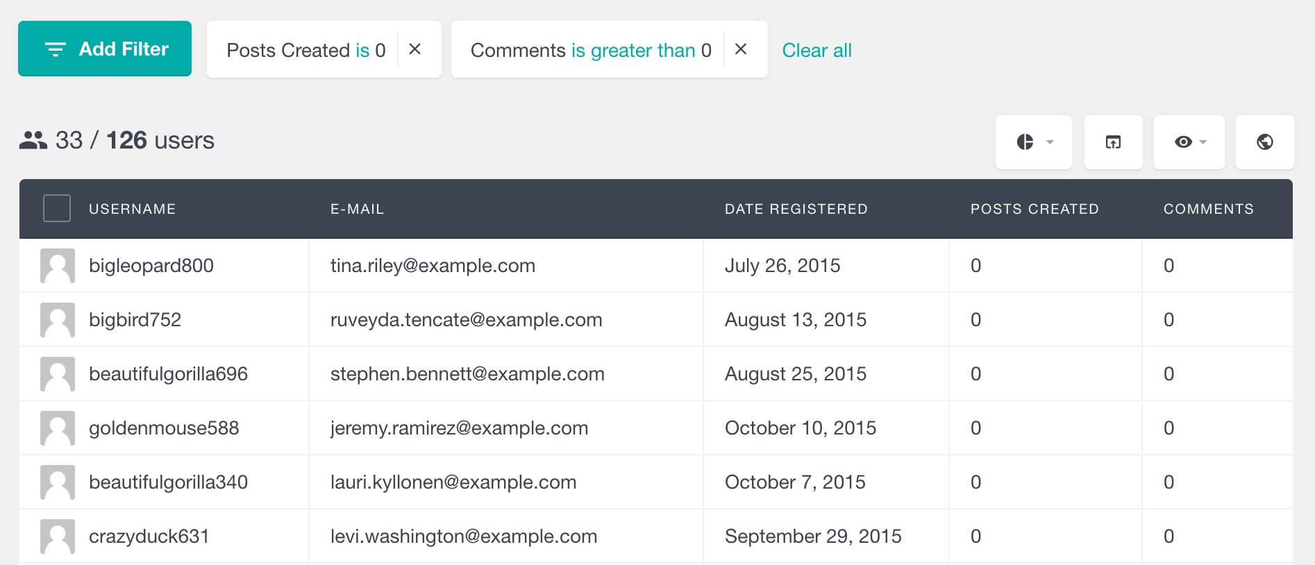 WordPress filter spam user registrations
