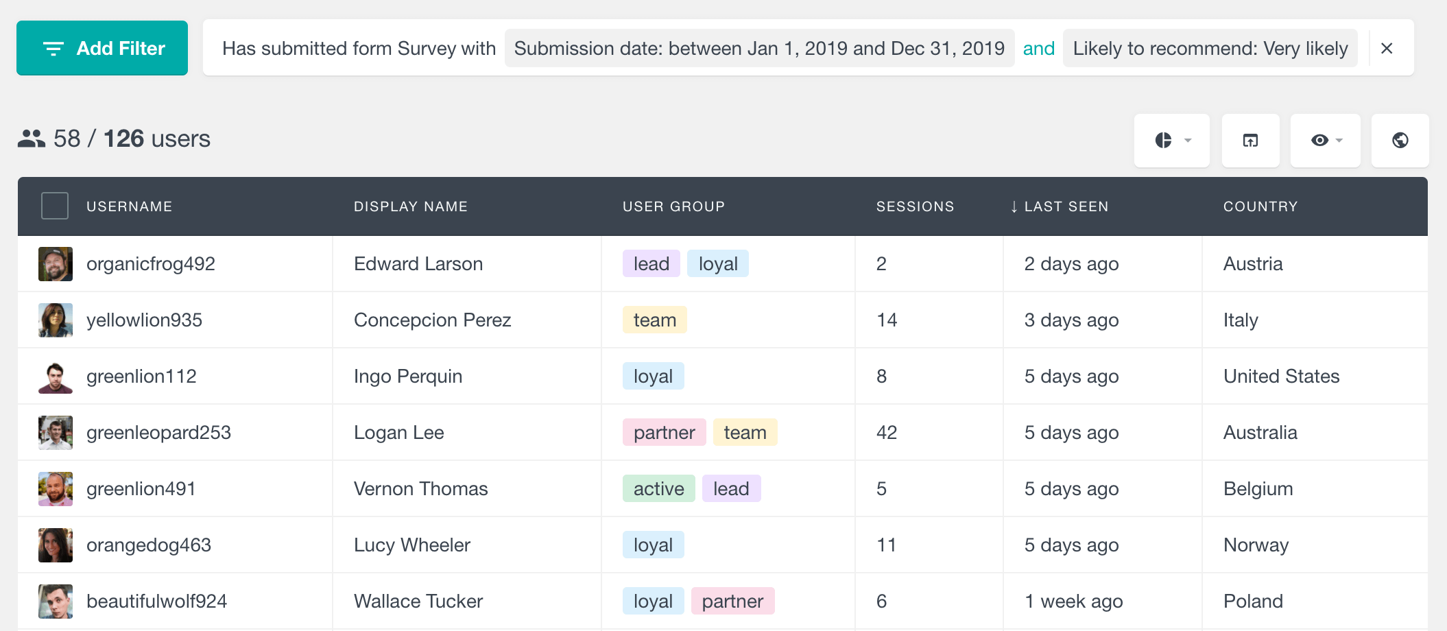 Gravity Forms filter users based on submission date and fields