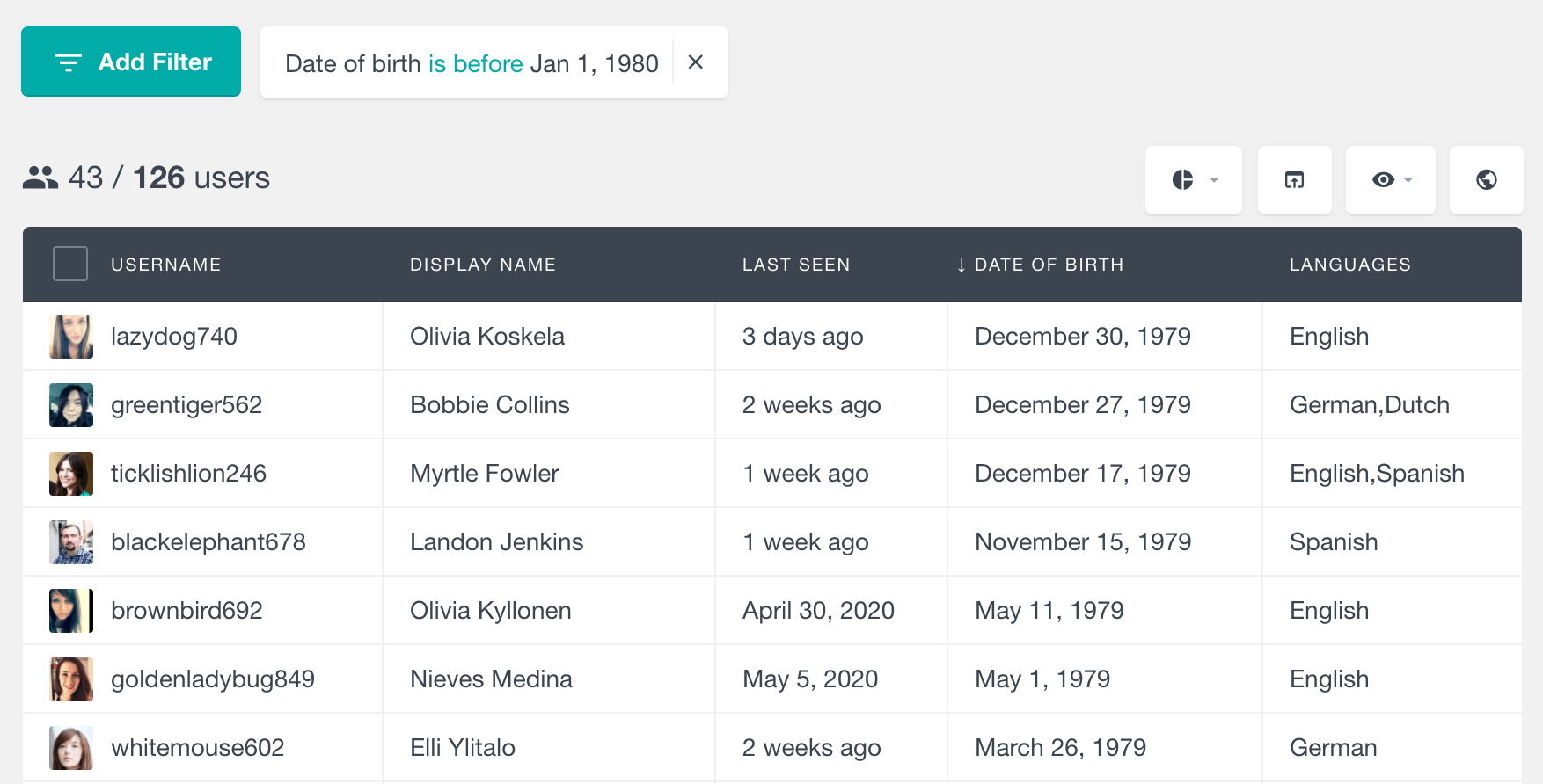 Gravity Forms filter users by date field