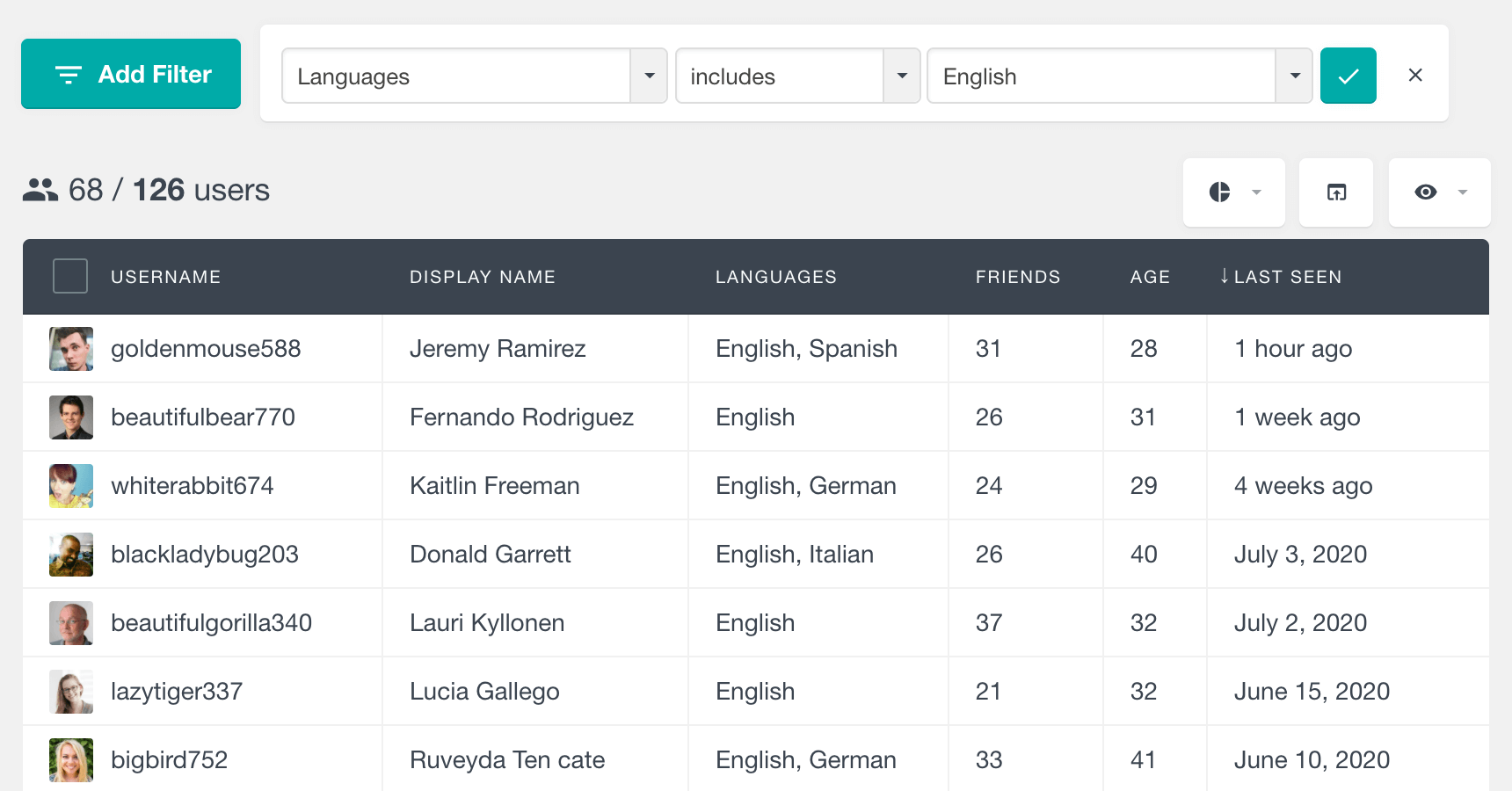 BuddyPress filter users by xprofile checkox field