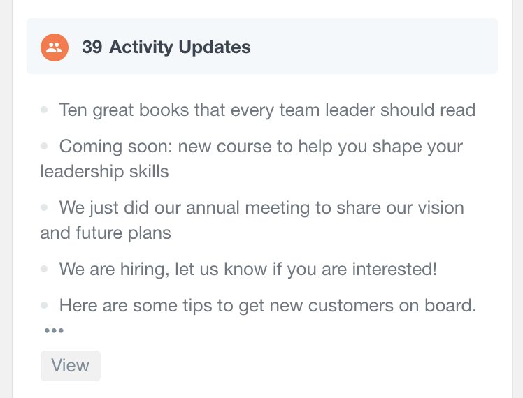BuddyPress list activity updates in user profile