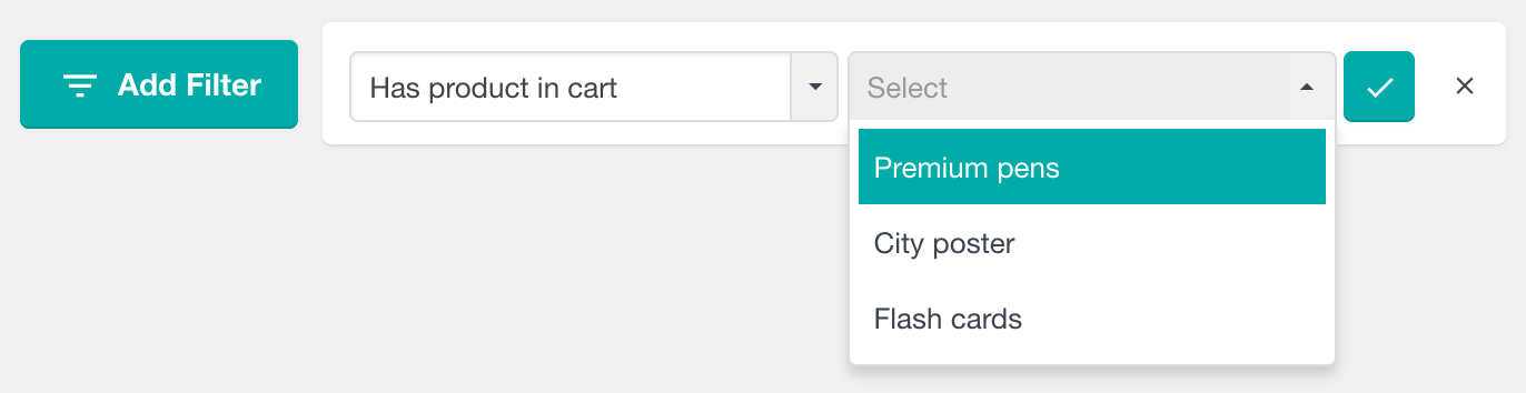 Find WooCommerce customers by products in cart