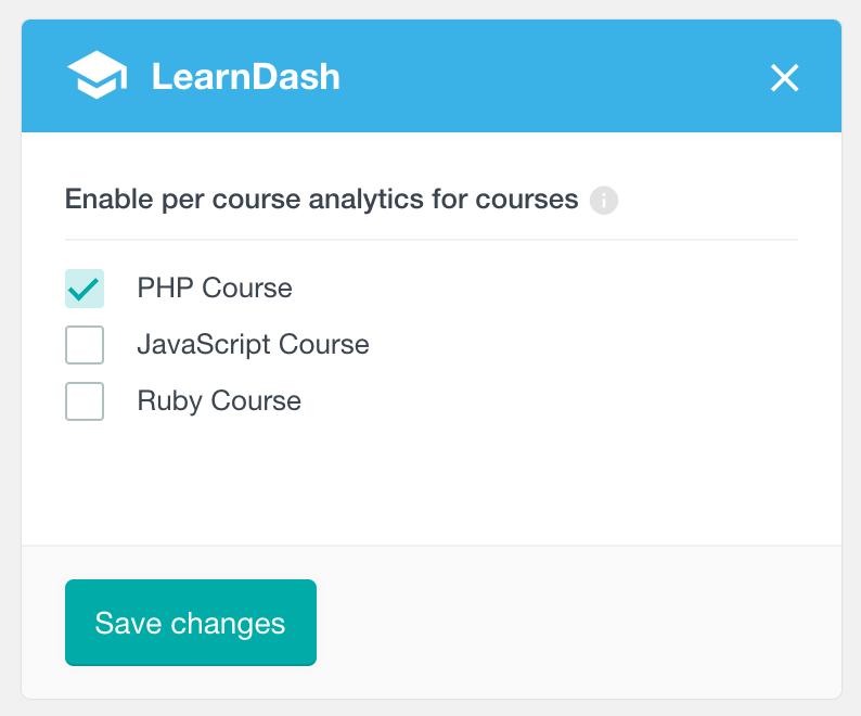 LearnDash enable per course analytics