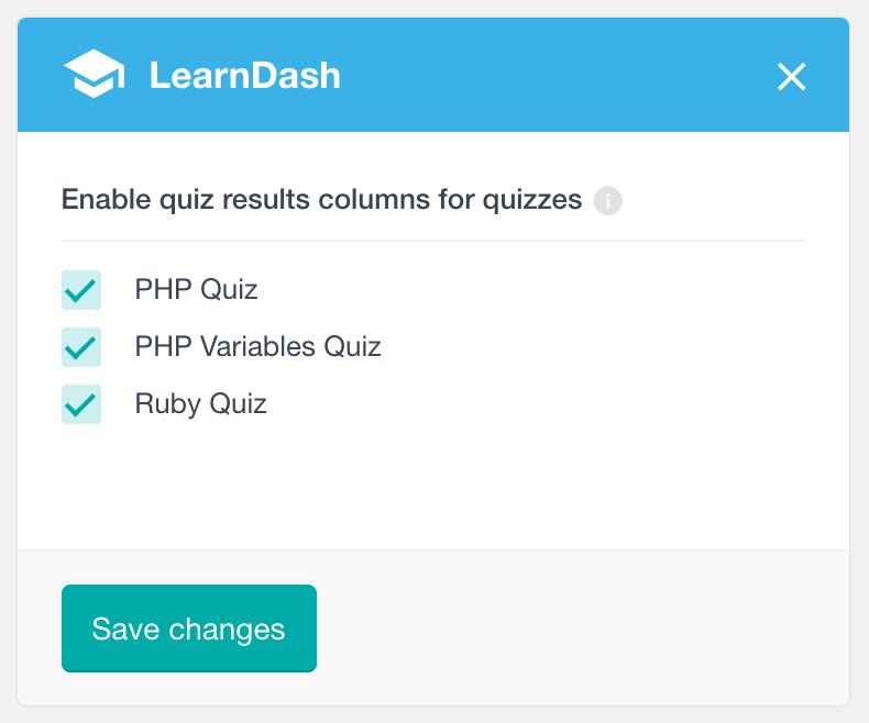 LearnDash enable per quiz analytics