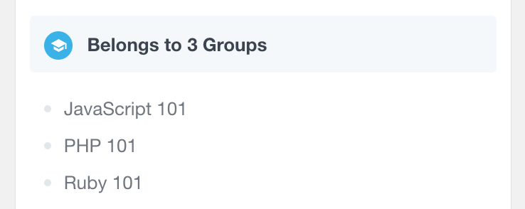 LearnDash user profile groups
