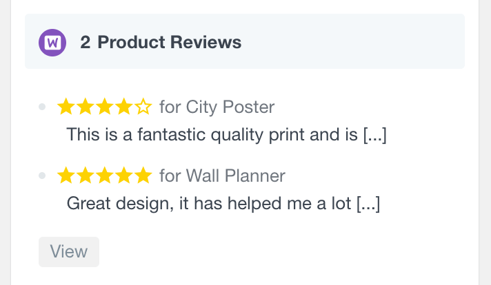 WooCommerce customer profile reviews