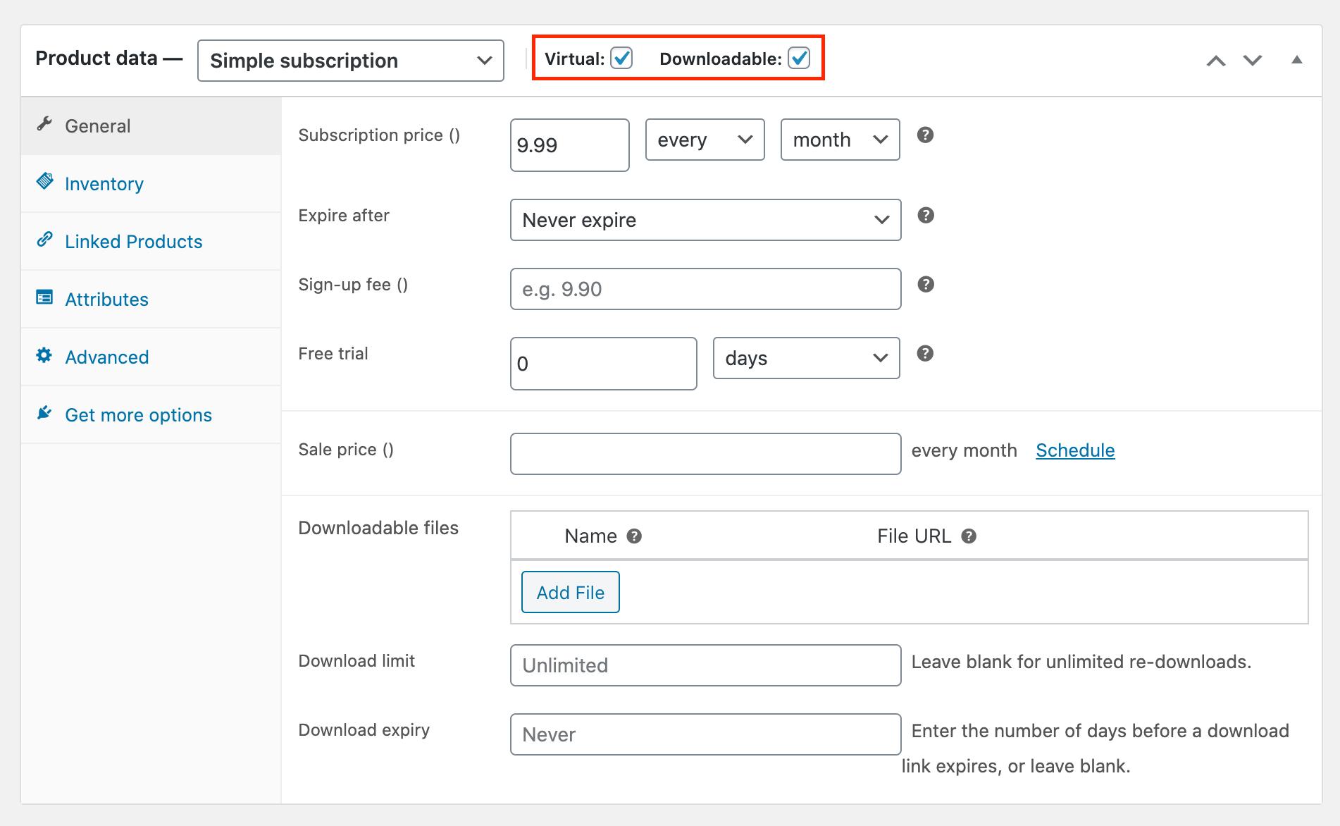 woocommerce recurring payments settings digital