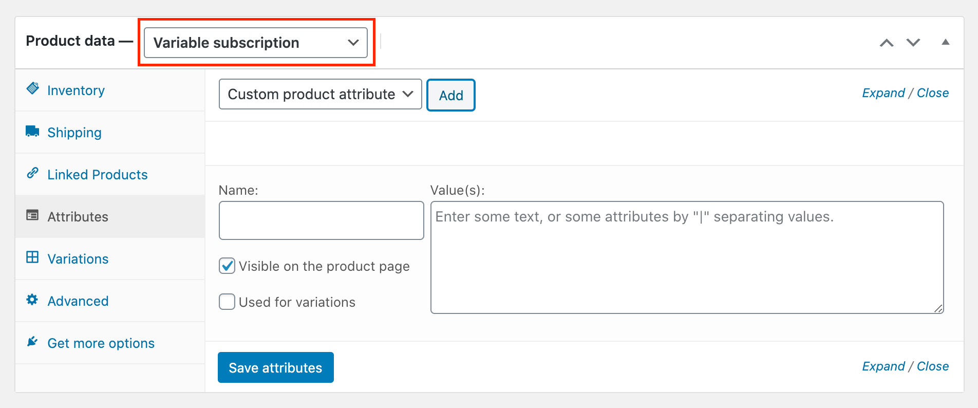 woocommerce recurring payments settings variable